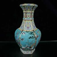 Chinese Enamel Color Porcelain Hand-made Flowers & Birds Vase
