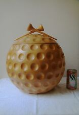 VTG 70's ALFONSO BINI ITALY WOOD ICE BUCKET COOLER GOLF BALL 2 PC
