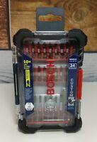 Bosch 24 Pc Impact Tough Screwdriving Custom Case System Set SDMS24 Driver Bits