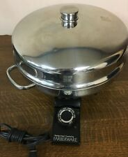 """12"""" Farberware Electric Buffet Skillet  Fry Pan  Dome Lid - 344A  Excellent Cond"""