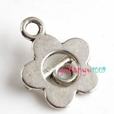 9x Silver Plated Toggle Flower Clasp Finding 16mm A339 Fashion