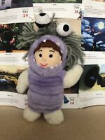 H Disney Pixar Monsters Inc Boo Plush Soft Toy Teddy Monster Outfit Rare