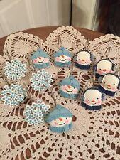 12 Decorative Shower Curtain Hooks Snowflakes Boy/Girl Snowman