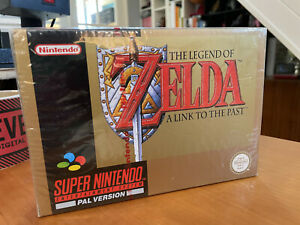SEALED SNES Zelda A Link to the Past Red Strip Seal with Protective Display Case