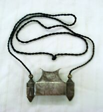 antique old silver lingam box pendant sacred symbol necklace god shiva hindu