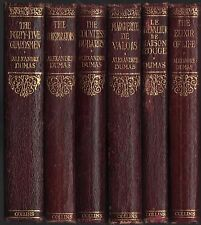 Antique Alexandre Dumas Decorative Red Leather Book Lot Set 6 - Instant Library