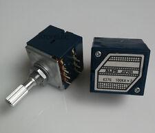 Japan ALPS RK27 100KAX2 LOG Stereo Volume Potentiometer Dual 100K Knurled Shaft