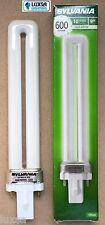 1 x Sylvania 9W 2 pin 840 PLS Dulux-S Biax-S PL-S Lynx-S 9watt G23 cool white