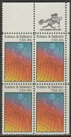 Scott# 2031 - 1983 Commemoratives - 20 cents Science and Industry Zip Block