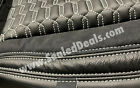 Jeep Wrangler Jk Custom Leather Seat Covers Black With Silver Hex Stitching