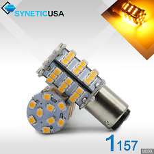 2x 1157 170LM 3528 Chip 54-SMD Dual Filament Parking Turn Signal LED Light Bulbs