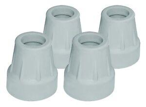 RMA705C0 - Gray Tips, Box Of 4, Fits 5/8 Alum. Quad Canes