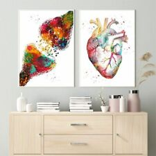 Anatomy Art Human Heart Canvas Painting Posters Wall Modern Bedroom Home Decors