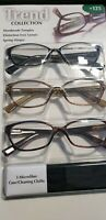 DESIGN OPTICS READING GLASSES - TREND COLLECTION - 3 PACK - NEW OPEN BOX