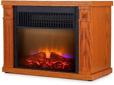 Mini Electric Fireplace Energy Efficient Heater Infrared Quartz Space Home Room