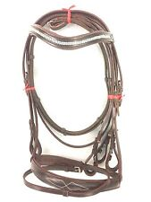 New Branded Leather Cook English Bridle with Diamond Chain Brown