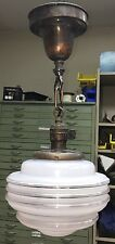 """18"""" Long Vintage Antique Pendant Light Hubbell Turnkey Socket Wired"""