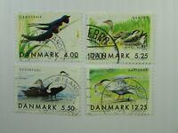 1999 Denmark  SC #1163-66 MIGRATORY BIRDS  Used stamp set