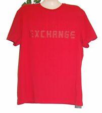 Armani Exchange A/X Red Logo Graphic Design Cotton Men's T-Shirt Size 2XL NEW