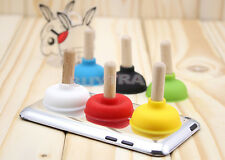 6X Mini Mount Holder Stand Toilet Sucker Plunger Pump for Smart Cell Phone Fg