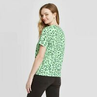NWT Fifth Sun Women's Animal Print St. Patrick's Day Clover  T-Shirt Tee M