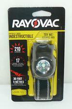NEW Rayovac Virtually Indestructible High Performance LED Headlight 210 Lumens
