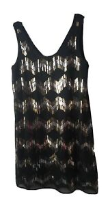 Black Sequin MiniDress Romeo&JulietCouture Small India Lined Burning Man dress