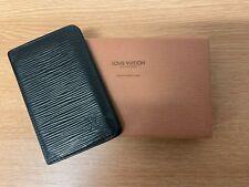 Vintage Louis Vuitton Black Epi Leather Credit Card / Business Card Holder