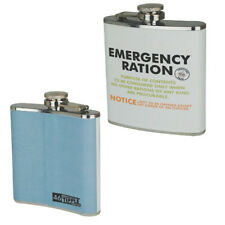 NEW VINTAGE WAR EMERGENCY RATION STAINLESS STEEL DRINKS HIP FLASK CONTAINER