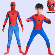 Kids 2018 Spider-Man Homecoming Super Hero Halloween Cosplay Costume Outfit Suit