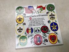 Boy Scout Oath or Promise Ceramic Plaque