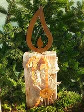 Edelrost Flamme 28 cm Gartendeko, Licht, Metall, Gartendekoration Weihnachten