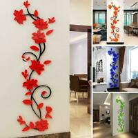 3D Flower Decal Vinyl Decor Art Home Living Room Wall Sticker Removable R4I3