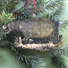 Christmas Ornament Hippopotamus Hippo Flat Birch Wood Laser Etched Image