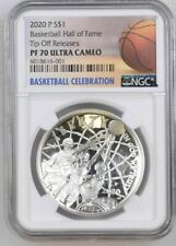 2020 P Basketball HOF Proof SILVER Dollar Coin - NGC PF70 Tip Off Releases