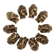 10Pcs Antique Bronze Metal Buddha's Head Loose Beads For Jewelery DIY Making