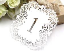 Tischkarten 1-10 - Tischdekoration Hochzeitsdekoration Weiss