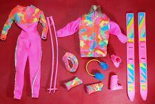 Barbie 1990 Ski Fun Vintage Mattel Doll Clothes & Accessory Set
