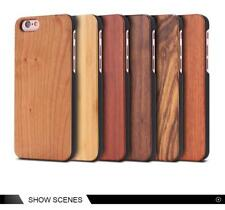 Natural Wood Bamboo Case For iPhone X 5S 7 8 6 6S Plus Natural Back Cover Coques