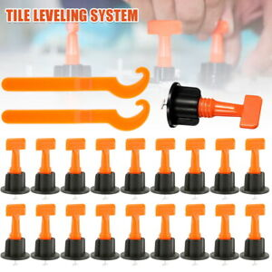 51/204 Tile Leveling System Clips Levelling Spacer Tiling Tool Floor Wall Wrench