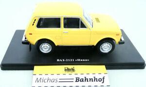 Lada Niva Car VAZ-2121 Orange-Yellow 1977 USSR 4x4 Ixo Hachette Diecast 1:24