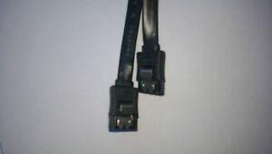 SATA S-ATA Kabel Daten + VERRIEGELUNG 0,50m 50cm SATA Stecker HDD Clip schwarz
