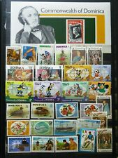 MINI SHEET AND STAMPS FROM DOMINICA (SIR ROWLAND HILL) - AS PER SCAN