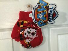 Paw Patrol Marshall Red Toddler Size Winter Mittens *NEW* i1