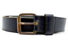 Vintage Handmade Mens Real Leather Belt Black Size 36