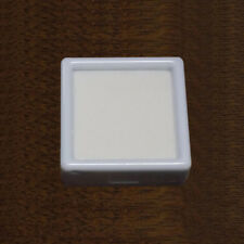 5 Pcs 40mm GLASS TOP SQUARE GEMSTONE DISPLAY / STORAGE WHITE INSERT BOX GEM POT