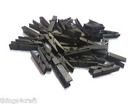 Mini Wooden Pegs Black 3.5cm Small Wooden Peg Choose pack size wood- UK Seller