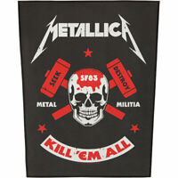 Metallica Men's Metal Militia Back Patch Black
