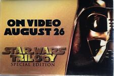 STAR WARS TRILOGY SPECIAL EDITION 1997 VIDEO RELEASE DARTH VADER PROMO BUTTON