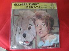 """Vinile 45 giri – 7"""" : MINA  """"RENATO"""" – """"ECLISSE TWIST"""" (retro cover col.sonora)"""